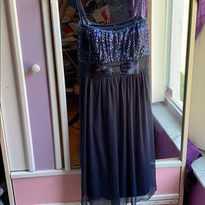 Blue dress above knee